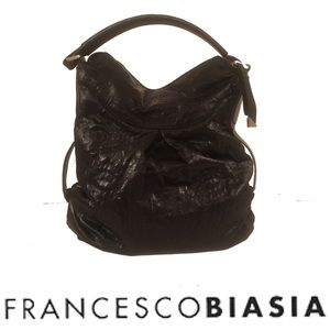 Francesco Biasia Ellen Black Slouchy Hobo Bag